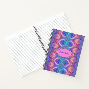 Beach Themed Colorful Abstract Notebook
