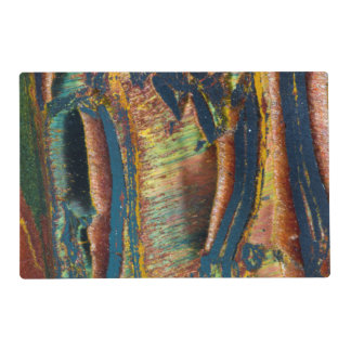 Colorful abstract of a Tiger eye Placemat