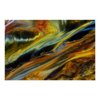 Colorful abstract of Pietersite Poster