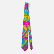 Colorful Abstract Oil Painting Neck Tie