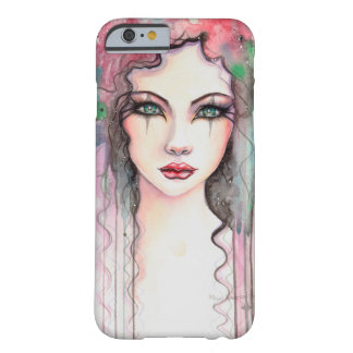 Colorful Abstract Painted Girl Watercolor Barely There iPhone 6 Case