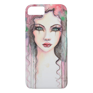 Colorful Abstract Painted Girl Watercolor iPhone 7 Case
