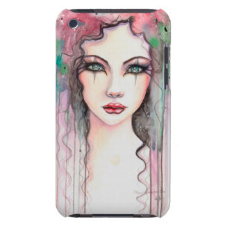 Colorful Abstract Painted Girl Watercolor iPod Touch Case