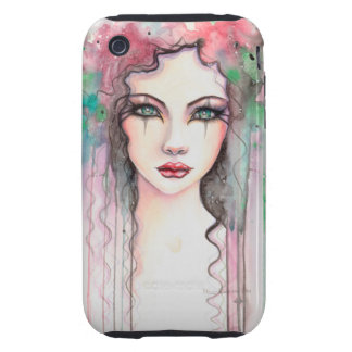 Colorful Abstract Painted Girl Watercolor Tough iPhone 3 Cases