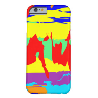 Colorful Abstract Painted Sky Barely There iPhone 6 Case