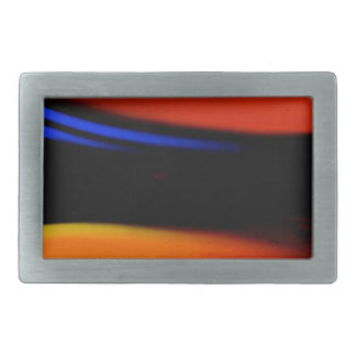 "Colorful Abstract Painting ""Embrace the Darkness"" Rectangular Belt Buckles"