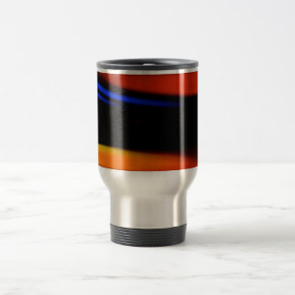 """Colorful Abstract Painting """"Embrace the Darkness"""" Travel Mug"""