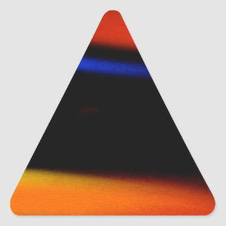 """Colorful Abstract Painting """"Embrace the Darkness"""" Triangle Sticker"""