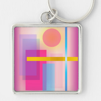 Colorful Abstract Painting Keychain