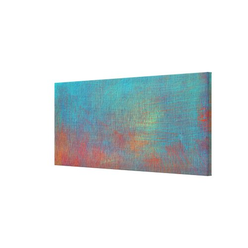 Colorful Abstract Painting on Canvas wrappedcanvas