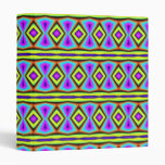 Colorful abstract pattern 3 ring binder