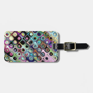 Colorful Abstract Pattern Bag Tag