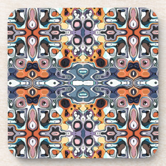 Colorful Abstract Pattern Beverage Coaster