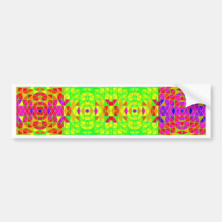 Colorful Abstract Pattern: Bumper Sticker