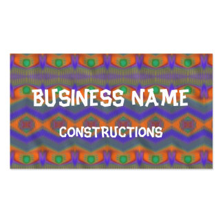 Colorful abstract pattern business card