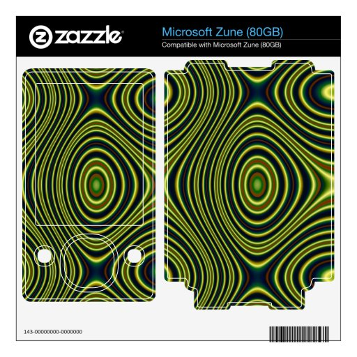 Colorful abstract pattern decal for the zune
