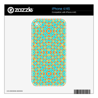 Colorful abstract pattern decals for the iPhone 4S