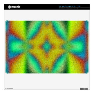 colorful abstract pattern decals for the MacBook