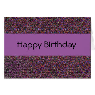 Colorful abstract pattern Happy Birthday Card