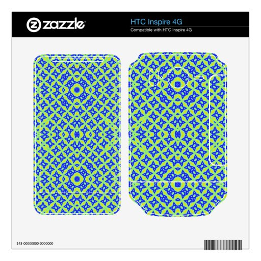 Colorful abstract pattern HTC inspire 4G skin