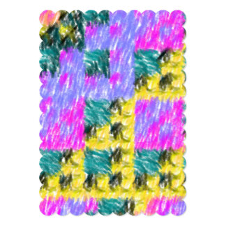 Colorful abstract pattern 5x7 paper invitation card