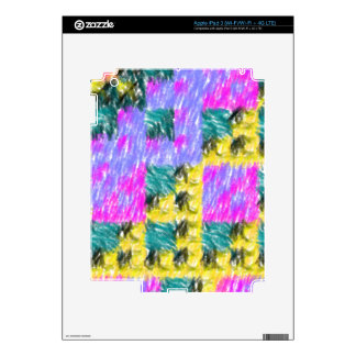 Colorful abstract pattern iPad 3 skin