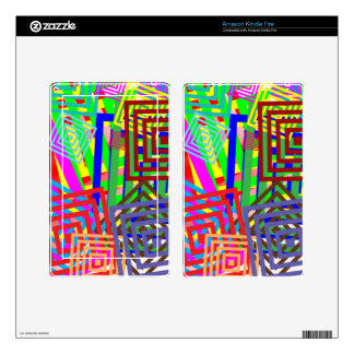 Colorful Abstract Pattern Kindle Fire Decals