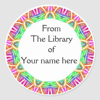 Colorful Abstract Pattern Library Bookplates