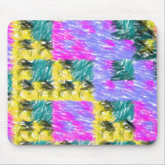 Colorful abstract pattern mouse pad