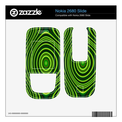 Colorful abstract pattern nokia 2680 slide skins