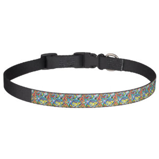 Colorful abstract pattern pet collar