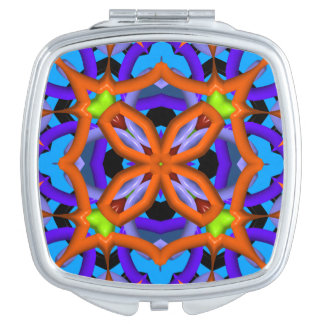 Colorful abstract pattern travel mirrors