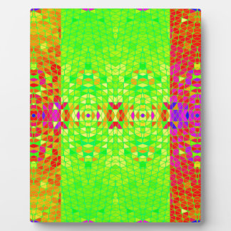 Colorful Abstract Pattern: Plaque