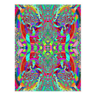 Colorful Abstract Pattern. Postcard