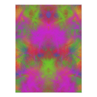 Colorful abstract pattern poster