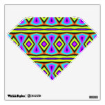 Colorful abstract pattern room stickers