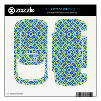 Colorful abstract pattern skins for LG octane
