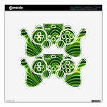 Colorful abstract pattern skin for PS3 controller