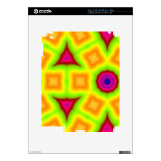 Colorful abstract pattern skin for the iPad 2