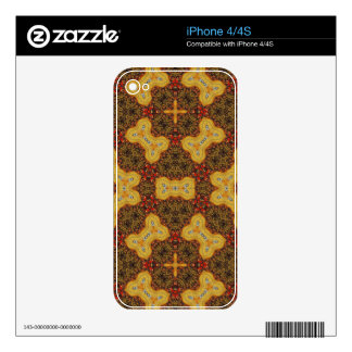 Colorful abstract pattern skin for the iPhone 4S