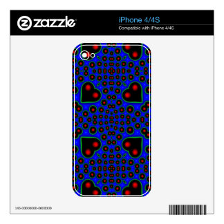 colorful abstract pattern skins for the iPhone 4S