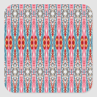 Colorful abstract pattern square sticker