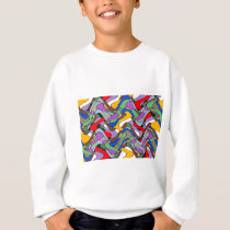 Colorful Abstract Pattern Sweatshirt