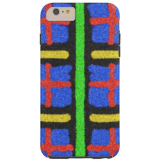 Colorful abstract pattern tough iPhone 6 plus case