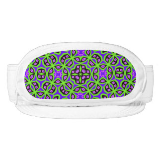 colorful abstract pattern visor