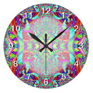 Colorful Abstract Pattern. Wall Clocks