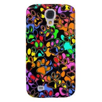 Colorful Abstract Paw s Galaxy S4 Cases