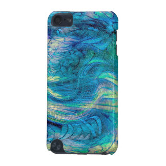 Colorful Abstract Peacock Abalone Art Custom iPod  iPod Touch 5G Cover