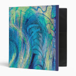 Colorful Abstract Peacock Art  Binder