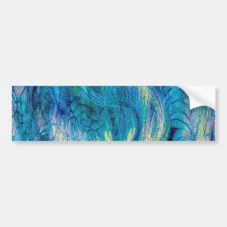 Colorful  Abstract Peacock Art Bumper Sticker